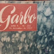 Coleccionismo de Revista Garbo: 8 REVISTAS GARBO DE 1957 Y 1 DE 1963. Lote 51700594