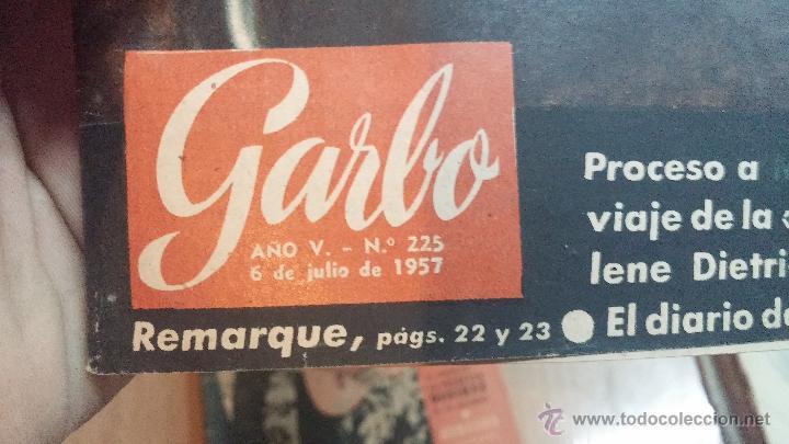 Coleccionismo de Revista Garbo: 8 revistas Garbo de 1957 y 1 de 1963 - Foto 21 - 51700594