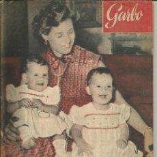 Coleccionismo de Revista Garbo: GARBO 4 DE JULIO DE 1953 Nº 17. AÑO I - PORTADA INGRID BERGMAN CON SUS HIJAS GEMELAS. Lote 51811420