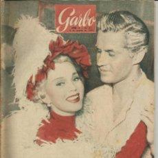 Coleccionismo de Revista Garbo: GARBO 6 DE MARZO DE 1954 Nº 51. AÑO II - PORTADA ZSA ZSA GABOR Y PETER SHAW. Lote 51812702