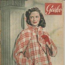 Coleccionismo de Revista Garbo: GARBO 13 DE FEBRERO 1954 Nº 48. AÑO II - PORTADA DOROTHY MALONE. Lote 51813480