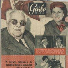 Coleccionismo de Revista Garbo: REVISTA GARBO. JULIO 1957. Nº 227. AGA KHAN. MARLON BRANDO. PRÍNCIPE JUAN CARLOS. Lote 53197573