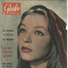 Coleccionismo de Revista Garbo: REVISTA GARBO. AGOSTO. 1954. Nº 154. DAW ADAMS. PRINCESA NASSINO. GRACE KELLY. Lote 53198299