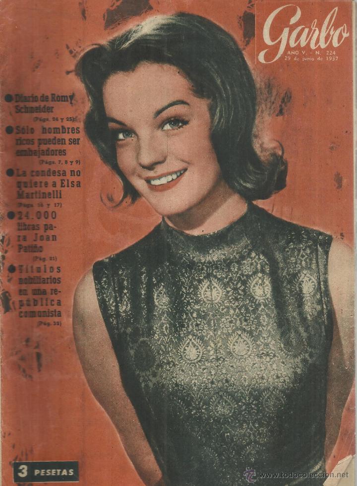 REVISTA GARBO. NOVIEMBRE. 1956. Nº 192. ROMY SCHNEIDER. ELSA MARTINELLI. JOAN PATIÑO (Coleccionismo - Revistas y Periódicos Modernos (a partir de 1.940) - Revista Garbo)
