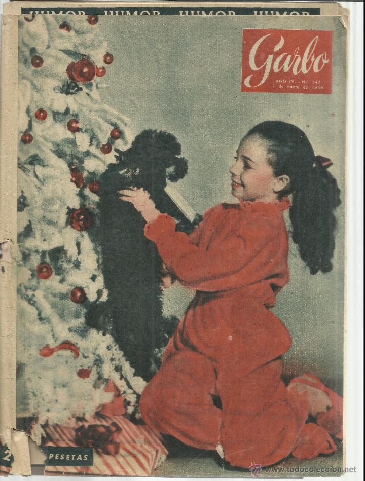REVISTA GARBO. ENERO. 1956. Nº 147. SANDRA DESCHER. RICHARD BARRIE. JOSEFINA HAKER (Coleccionismo - Revistas y Periódicos Modernos (a partir de 1.940) - Revista Garbo)