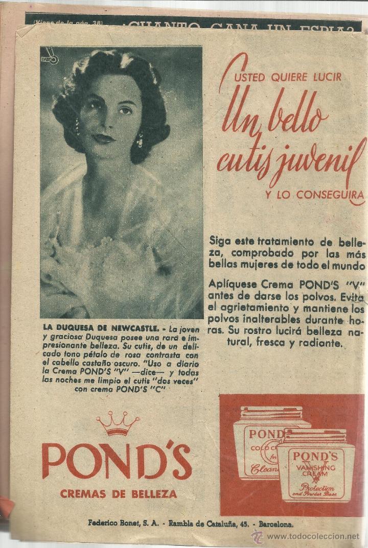 Coleccionismo de Revista Garbo: REVISTA GARBO. ENERO. 1956. Nº 147. SANDRA DESCHER. RICHARD BARRIE. JOSEFINA HAKER - Foto 3 - 53369501