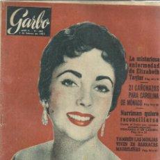 Coleccionismo de Revista Garbo: REVISTA GARBO. FEBRERO. 1957. Nº 203.CAROLINA DE MÓNACO. ELIZABETH TAYLOR. NARRIMAN. Lote 53369947