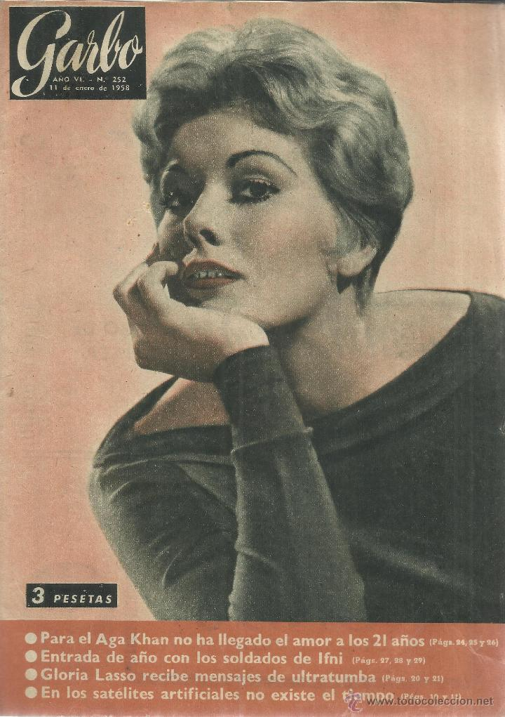 REVISTA GARBO. ENERO. 1958. Nº 252. FAZILÉ.AGA KHAN. GLORIA LASSO. KIM NOVAK (Coleccionismo - Revistas y Periódicos Modernos (a partir de 1.940) - Revista Garbo)