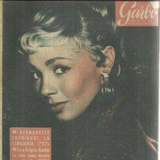 Coleccionismo de Revista Garbo: REVISTA GARBO. FEBRERO. 1958. Nº 258. BERNADETTE SOUBIROUS. BRIGITTE BARDOT. MARGARITA DE INGLATERRA. Lote 53371049
