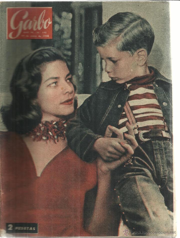 REVISTA GARBO. ENERO. 1956. Nº 148. LAUREN BACCAL. RAINERO DE MÓNACO. GRACE KELLY (Coleccionismo - Revistas y Periódicos Modernos (a partir de 1.940) - Revista Garbo)