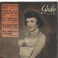 Coleccionismo de Revista Garbo: REVISTA GARBO. JUNIO. 1957. Nº 220. SHA DE PERSIA. FARUK. ELSA MAXWEL. DONNA REED. Lote 53371316