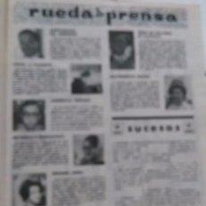 Coleccionismo de Revista Garbo: RECORTE MARINA VLADY SARA MONTIEL IRENE DE HOLANDAA TAJAMAR PABLO VI. Lote 56963117