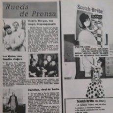 Coleccionismo de Revista Garbo: RECORTE SCOTCH BRITE CHRISTINE RIVAL DE SARA MONTIEL EN LA MUJER PERDIDA MICHELE MORGAN . Lote 56968925