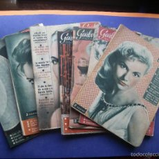 Coleccionismo de Revista Garbo: LOTE REVISTAS GARBO DE LOS AÑOS 50 SIETE EJEMPLARES SE VENDEN JUNTAS O POR SEPARADO VER FOTOS. Lote 57847920