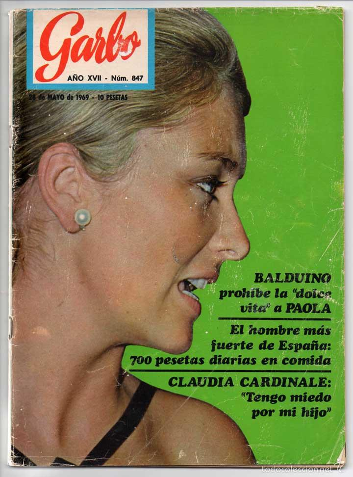 REVISTA GARBO Nº 847 - 28-05-1969 - RICHARD ANTONY, PAOLA, CLAUDIA CARDINALE, LIZ TAYLOR, ADAMO (Coleccionismo - Revistas y Periódicos Modernos (a partir de 1.940) - Revista Garbo)