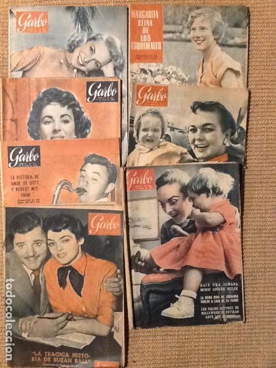 LOTE 7 REVISTA GARBO AÑO 1955. 1956 (Coleccionismo - Revistas y Periódicos Modernos (a partir de 1.940) - Revista Garbo)