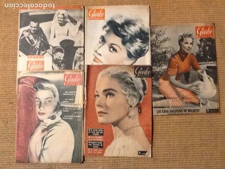 LOTE 5 REVISTA GARBO 1956 (Coleccionismo - Revistas y Periódicos Modernos (a partir de 1.940) - Revista Garbo)