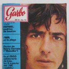 Coleccionismo de Revista Garbo: REVISTA GARBO - JOAN MANUEL SERRAT, RAPAHEL, POSTER DE HENRY DARROW.... Lote 79296389