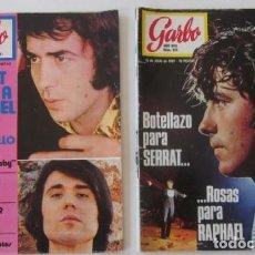 Coleccionismo de Revista Garbo: DOS REVISTAS GARBO - SERRAT Y RAPHAEL.... Lote 93996774