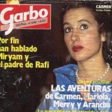 Coleccionismo de Revista Garbo: GARBO Nº 1580 AÑO 1983 - RAFI ESCOBEDO - MIRIAM DE LA SIERRA - MIGUEL RIOS (6 PAGINAS 6 FOTOS). Lote 79984333