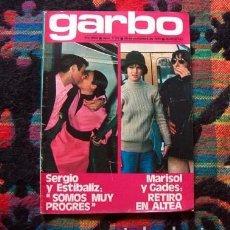 Coleccionismo de Revista Garbo: MARISOL & ANTONIO GADES, ROCIO DURCAL, LAS GRECAS, CECILIA, FEDRA LORENTE, SERGIO Y ESTIBALIZ. Lote 84828544
