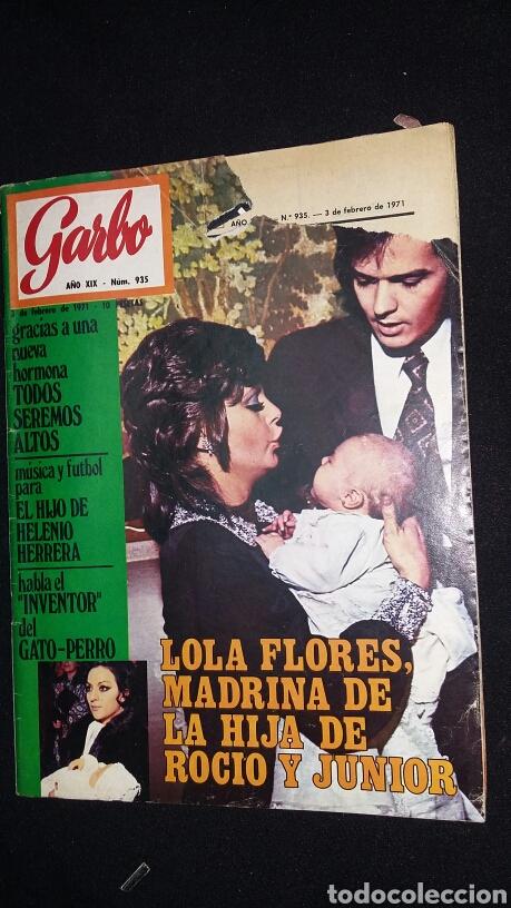 REVISTA GARBO - LOLA FLORES MADRINA HIJA ROCIO Y JUNIOR - Nº 935 - AÑO 1971 - TDKR8 (Coleccionismo - Revistas y Periódicos Modernos (a partir de 1.940) - Revista Garbo)