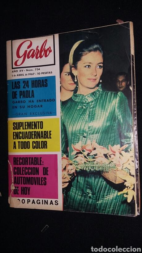 REVISTA GARBO - LAS 24 HORAS DE PAOLA - Nº 734 - AÑO 1967 - TDKR8 (Coleccionismo - Revistas y Periódicos Modernos (a partir de 1.940) - Revista Garbo)