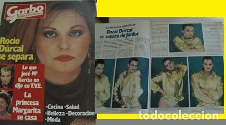 REVISTA GARBO 1981 ROCÍO DÚRCAL (Coleccionismo - Revistas y Periódicos Modernos (a partir de 1.940) - Revista Garbo)