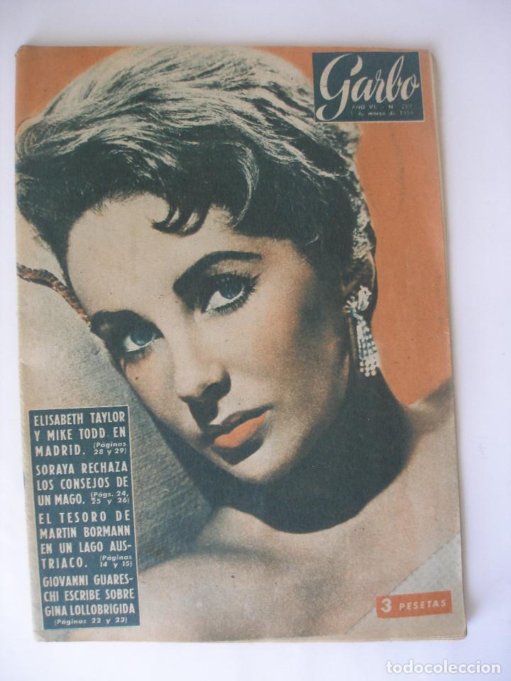 REVISTA GARBO Nº 259 ELIZABETH TAYLOR MARZO DE 1958 (Coleccionismo - Revistas y Periódicos Modernos (a partir de 1.940) - Revista Garbo)