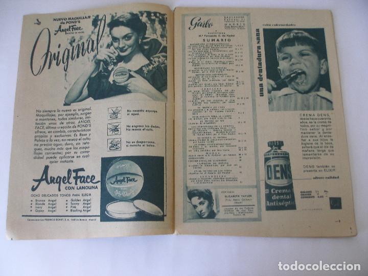 Coleccionismo de Revista Garbo: Revista Garbo nº 259 Elizabeth Taylor marzo de 1958 - Foto 3 - 93094120