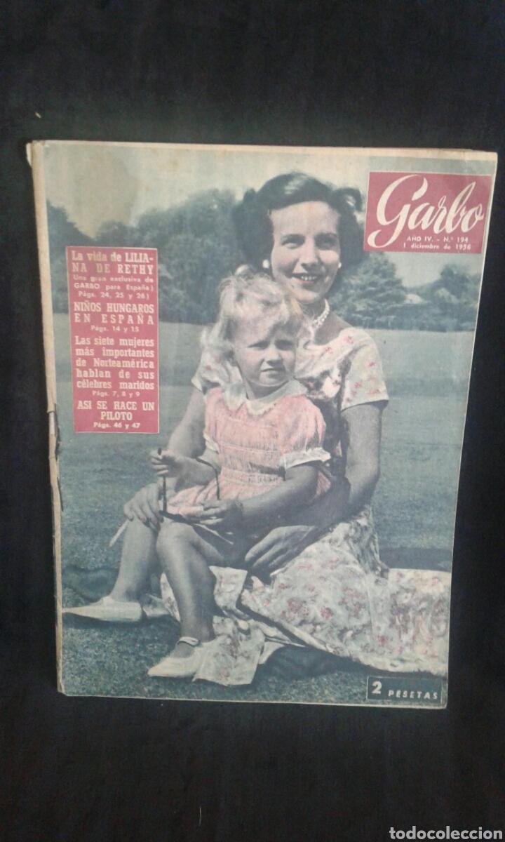 REVISTA GARBO 1956 NÚM. 194 (Coleccionismo - Revistas y Periódicos Modernos (a partir de 1.940) - Revista Garbo)