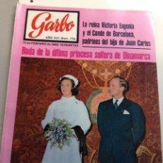 Coleccionismo de Revista Garbo: REVISTA GARBO - Nº 779 -10 FEBRERO 1968 - BODA DE BENEDIKTE DE DINAMARCA , SARA MONTIEL. Lote 95771887