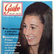 Coleccionismo de Revista Garbo: REVISTA GARBO Nº 844 -7 MAYO 1969, EL CORDOBES ,CARMEN MARTINEZ BORDIU. Lote 95795447