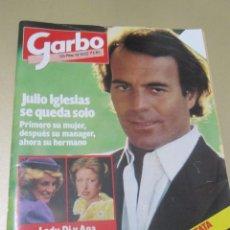 Coleccionismo de Revista Garbo: GARBO 1/85 JULIO IGLESIAS CONCHA VELASCO HEMINGWAY YUL BRYNNER VICTOR MANUEL ANA BELEN HEPBURN MARCO. Lote 98822743