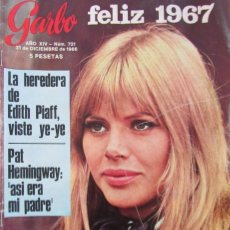 Coleccionismo de Revista Garbo: GARBO 721 1966 SALVADOR DALI, MIREILEE MATHIEU RAQUEL WELCH SYLVIE VARTAN, BRITT EKLAND MONICA VITTI. Lote 100618879