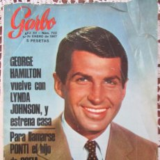 Coleccionismo de Revista Garbo - GARBO 723 1967 GEORGE HAMILTON, RUBY, BRIGITTE BARDOT, SUZANNE GABRIELLEO, MATHALIE WOOD, SORAYA - 100655763