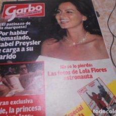 Coleccionismo de Revista Garbo: GARBO - 10 -10 -1983 - LOLA FLORES 2F -2P. Lote 100994367