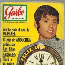 Coleccionismo de Revista Garbo: REVISTA GARBO, Nº 878,31 DICIEMBRE 1969. RAPHAEL, LLUÍS LLACH, RINGO STAR, SARA MONTIEL, A. BASTEDO. Lote 101147331
