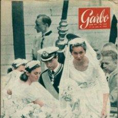 Coleccionismo de Revista Garbo: GARBO Nº 330 ORIGINAL - 11 JULIO 1959 - PAOLA DE BELGICA, VICTOR MANUEL, ETC.. Lote 103863523