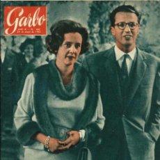 Coleccionismo de Revista Garbo: GARBO Nº 480 ORIGINAL - 26 MAYO 1962 - FABIOLA Y BALDUINO, GRACE KELLY, FESTIVAL DE CANNES. Lote 103864863