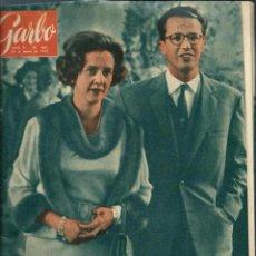 Coleccionismo de Revista Garbo: GARBO Nº 480 ORIGINAL - 26 MAYO 1962 - FABIOLA Y BALDUINO, GRACE KELLY, FESTIVAL DE CANNES. Lote 103864887