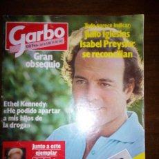Coleccionismo de Revista Garbo: REVISTA GARBO, JULIO IGLESIAS E ISABEL SE RECONCILIAN, OCTUBRE 1982, NUMERO 1538. Lote 105383000