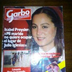 Coleccionismo de Revista Garbo: REVISTA GARBO, ISABEL PREYSLER, LEVANTE LLORA SU TRAGEDIA, NOVIEMBRE 1982, NUMERO 1541. Lote 105383606
