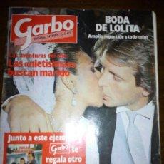 Coleccionismo de Revista Garbo: REVISTA GARBO, BODA DE LOLITA, SEPTIEMBRE 1983, NUMERO 1585. Lote 105385339
