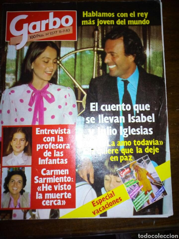 REVISTA GARBO, JULIO IGLESIAS E ISABEL, JULIO 1983, NUMERO 1577 (Coleccionismo - Revistas y Periódicos Modernos (a partir de 1.940) - Revista Garbo)