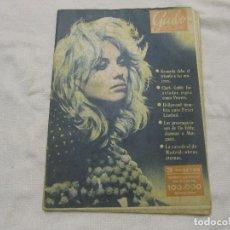 Coleccionismo de Revista Garbo: REVISTA GARBO NUM 402 NOV 1960,MYLENE DEMONGEOT, KENEDDY, CATEDRAL DE MADRID, CLARK GABLE. Lote 105586099
