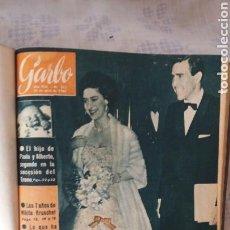 Coleccionismo de Revista Garbo: ENCUADERNACION REVISTAS GARBO AÑOS 60. Lote 107567746