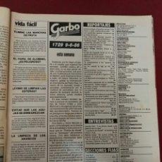 Coleccionismo de Revista Garbo: REVISTA GARBO. Lote 107845147