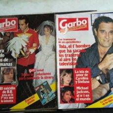 Coleccionismo de Revista Garbo: LOTE DE TRECE REVISTAS GARBO, AÑOS 83-84. LAS DE LAS IMAGENES. Lote 112986895