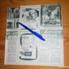 Coleccionismo de Revista Garbo: RECORTE DE PRENSA : EXPOSICION DE ICONOS RUSOS EN MADRID. GARBO, 1955. Lote 114102767